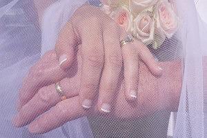 ring,veil,hands